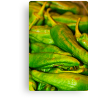 Green Peppers Canvas Print