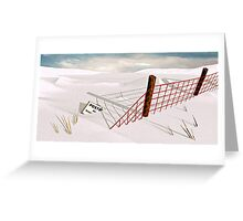 Snow Fence Greeting Card