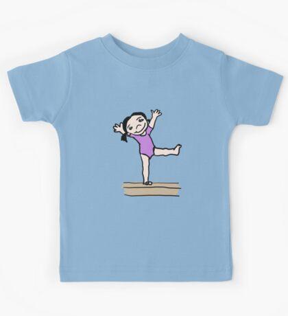 Gymnastics Girl Kids Tee