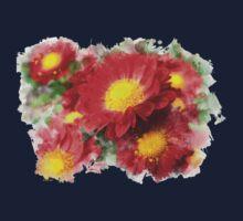 Chrysanthemum Watercolor Art Kids Tee
