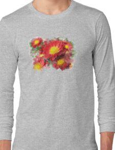 Chrysanthemum Watercolor Art Long Sleeve T-Shirt
