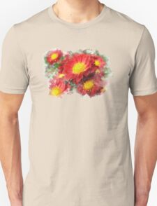 Chrysanthemum Watercolor Art Unisex T-Shirt