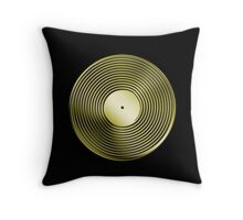 Vinyl LP Record - Metallic - Gold Throw Pillow