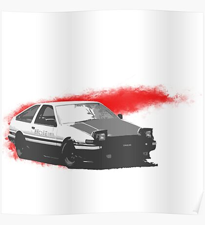RedSlash AE86  Poster