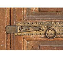 Door latch details Photographic Print