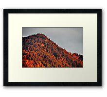 Red Mount at Dusk Framed Print