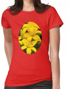Yellow Lilies Womens Fitted T-Shirt
