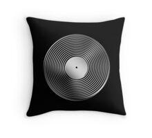Vinyl LP Record - Metallic - Steel Throw Pillow