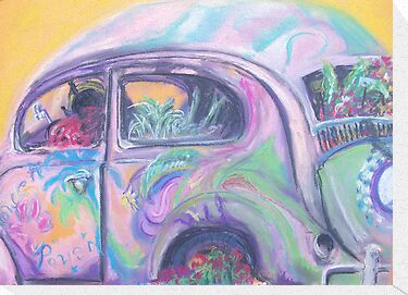 Flower Power (pastel) by Niki Hilsabeck