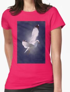 White Gull Womens Fitted T-Shirt