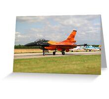 RNAF Solo Display F16 Greeting Card