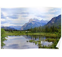 Mt.  Rundle As Seen From  Vermillion Lakes Poster