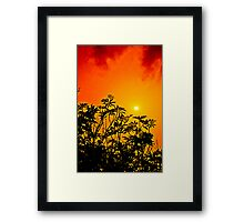 Red Cloud Sunset Framed Print