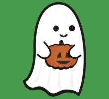 Cute Ghost's Jack o' Lantern One Piece - Short Sleeve