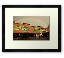 Wall Drug Rainbow Framed Print
