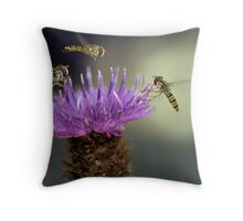 Hoverflies Throw Pillow
