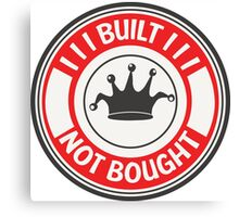 Jdm built not bought badge - red Canvas Print
