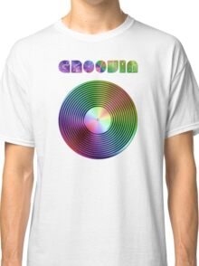 Groovin - Vinyl LP Record & Text - Metallic - Rainbow Classic T-Shirt