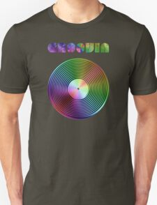 Groovin - Vinyl LP Record & Text - Metallic - Rainbow T-Shirt