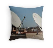 Satellite City Throw Pillow