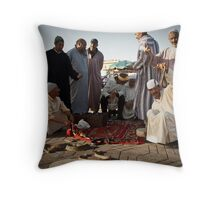 Snake charmers Throw Pillow