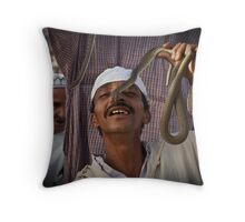 Snake charmers 2 Throw Pillow
