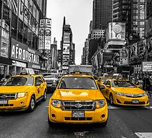 Taxis on Broadway by Assaf Frank