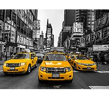 Taxis on Broadway Photographic Print