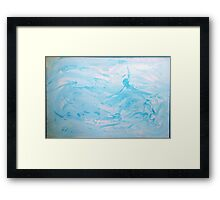 Floats - abstract acrylic painting in blues Framed Print