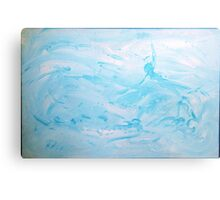 Floats - abstract acrylic painting in blues Metal Print