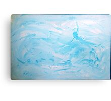 Floats - abstract acrylic painting in blues Canvas Print