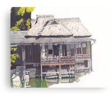 Hakkeitei Guesthouse, Hikone, Japan Metal Print