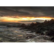 Ragged Rocks, Ballymacotter Photographic Print