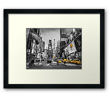 Traffic signal on broadway Framed Print