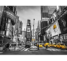 Traffic signal on broadway Photographic Print