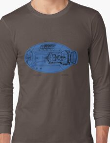 Mega Buster Schematic Shirt Long Sleeve T-Shirt
