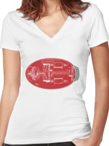 Proto Buster Schematic Shirt Women's Fitted V-Neck T-Shirt