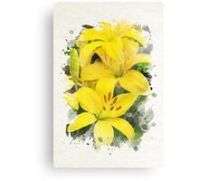 Lily Watercolor Art Canvas Print