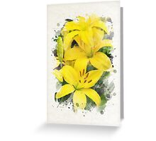 Lily Watercolor Art Greeting Card