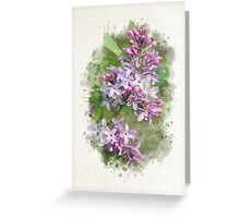 Lilac Watercolor Art Greeting Card
