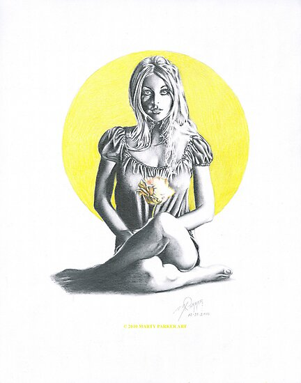FLOWER CHILD (Sharon Tate) by Marty  Parker