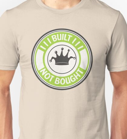 Jdm built not bought badge - green Unisex T-Shirt