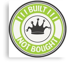 Jdm built not bought badge - green Canvas Print