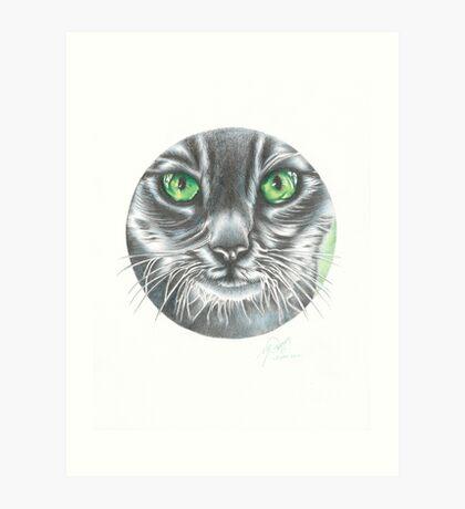 CIRCLE CAT Art Print