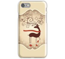 Elegant Reindeer Christmas Card - Happy Holidays iPhone Case/Skin