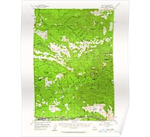 USGS Topo Map Oregon Mill City 282711 1955 62500 Poster