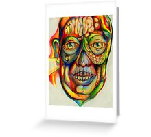 psychedelic portrait Greeting Card