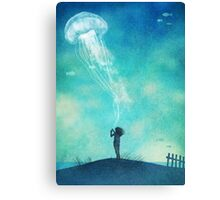 The Thing About Jellyfish Canvas Print