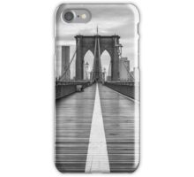 Tourist on Brooklyn bridge iPhone Case/Skin