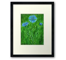Cornflowers ~ Hope for a Cure - ALS Framed Print